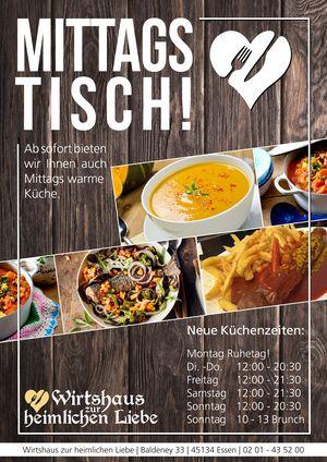 Mittagstisch in der heimliche Liebe Essen Stadtwald Baldeneysee
